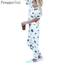 Women Autumn Winter Pajamas Soft Comfortable Printing Home Suit Cotton Pyjama Sleepwear Plus Size Woman
