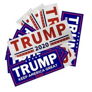 "Image 2 - 10 pcs דונלד טראמפ לנשיא מחדש בחירות רכב מדבקה גדול שוב ארה""ב דגל כובע רכב פגוש מדבקה"