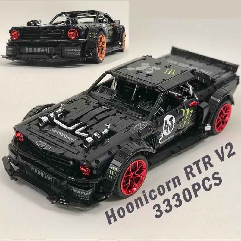 Лепин MOC лего technic Creator RC мощность двигатель дистанционного управления Ford Mustang Hoonicorn РТР legoING 22970 строительные блоки кирпичи игрушка подарок