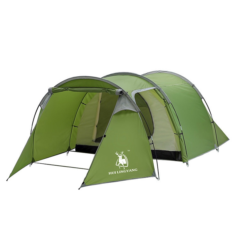 Waterproof Camping Tunnel Tent Family Travel Camping Outdoor 3-4 Person Shelter