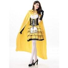 Nueva llegada de oro largo Alemania disfraces chica cerveza femail  Goldilocks disfraces de Halloween para las 423822c15793