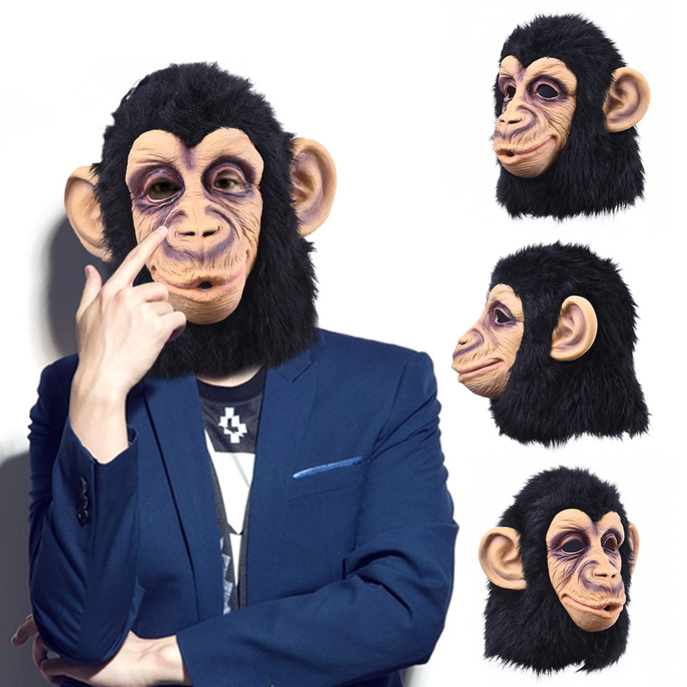 Online Shop NEW Orangutan Mask Animal Head Mask Monkey Headwear ...
