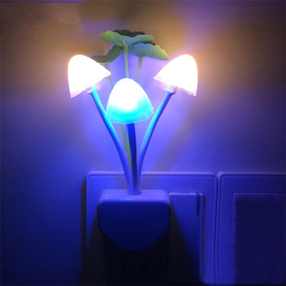 Led Wall Night Light: LED Wall Night Lights Mushroom Plants Style Sensor Lamp