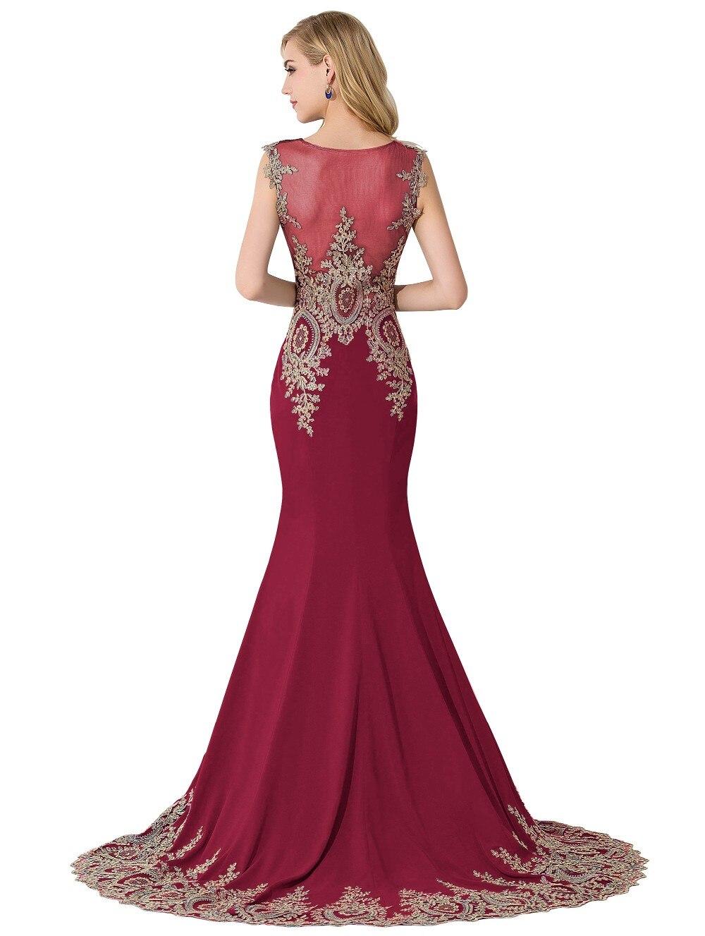 Sexy Sheer Lace Mermaid Long Prom Dresses under 50 Elegant Royal Blue Evening Party Dresses Vestido de Festa Longo