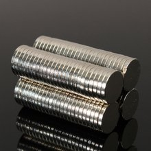 50 pcs Strong Round Dia. 8mm x 1.5mm Rare Earth Neodymium Magnet Art Craft Fridge