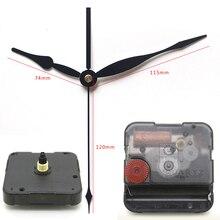 12888 6mm comprimento do parafuso Ponteiros Do Relógio Movimento de Quartzo de Plástico Movimento de Varredura Com preto longo 33 # Relógio Acessório DIY Kits de relógio