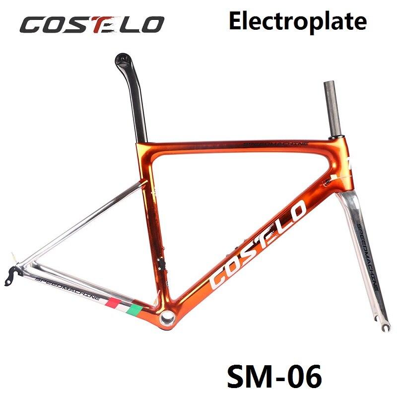 2018 Costelo Speedmachine 3.0 ultra leggero 790g di carbonio telaio della bici della strada Costelo bicicletta bicicleta telaio in fibra di carbonio telaio a buon mercato