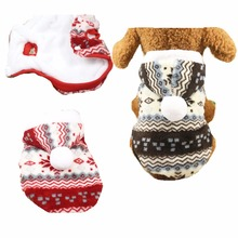 FB82 Warm Soft Fleece Pet Dog Clothes Winter Snowflake Dog Jacket Sweater Costume Teddy Puppy dog Hoodie Coat Drop-shipping