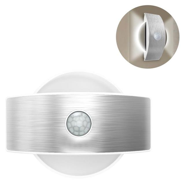 Led wall light motion sensor security lights 14 indoor circular led wall light motion sensor security lights 14 indoor circular shape lamp for stair kitchen bathroom mozeypictures Image collections