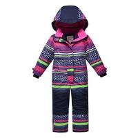 2019 High Quality Kids Winter Jumpsuit Kids Ski Suit Winter Snowsuit Hooded Cotton Warm Outdoor Wear Children One Pieces Russian