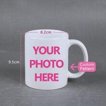 DIY logotipo de la foto de la taza de café de impresión personalizada foto 11  OZ blanco de cerámica tazas de café de texto perso. 38d908690d6