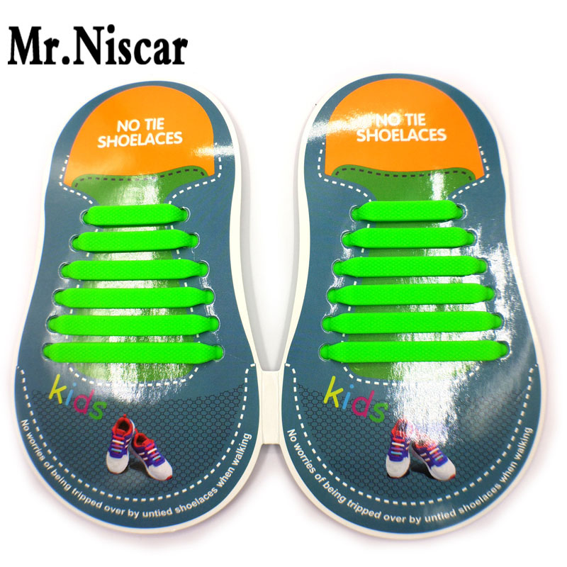 1Set/12Pcs No Tie Shoelaces for Kids Best Sports Shoelaces Waterproof Silicon Flat Elastic Athletic Running Shoe Laces 8 Colors