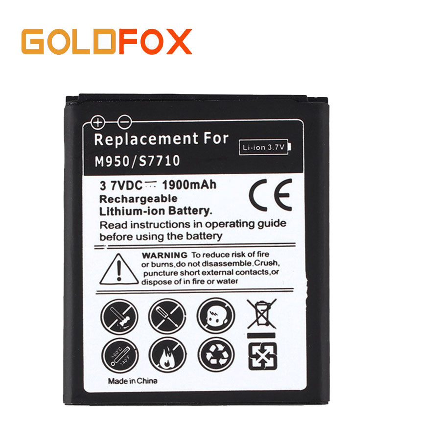 High Quality 1900mAH Replacement Battery For Samsung Galaxy Reverb Galaxy Xcover 2 S7710 M950 Batterie Bateria Wholesale