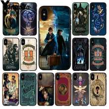 Yinuoda Fantastic Beasts  Black TPU Soft Rubber Phone Cover for Apple iPhone 8 7 6 6S Plus X XS MAX 5 5S SE XR Mobile Cover