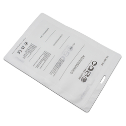 White Plastic Zip lock Poly Bag Tablet Case Packaging Storage Retail PC Computer Cover Package Pouches for iPad mini 4 mini 2