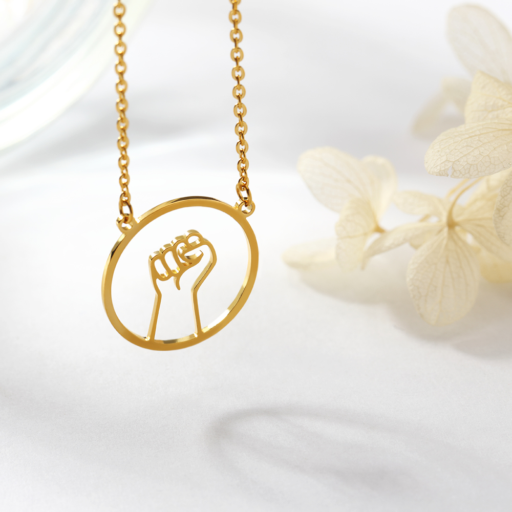 Hollow hand gesture necklace Sign Language I Love You Swear Okay Hand Gestures Necklace Sister Best Friends Necklace in Pendant Necklaces from Jewelry Accessories