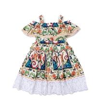Bongawan/ г.; Платья с цветочным принтом для девочек в богемном стиле; летняя одежда для девочек с геометрическим принтом; вечерние платья принцессы