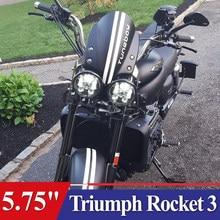 "Rocket 3 Moto 5 Faro 3/4 Inch 5.75 ""A Doppio Led Fari Per Triumph Speed/Street Triple, thunderbird, Rocket 3"