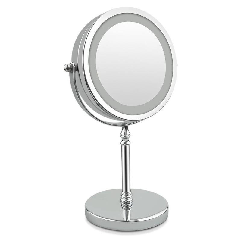 Cosmetic Makeup Mirror Double Side LED Makeup Mirror 7 Inch 10x Magnification 360 Degree Rotating Make Up Mirror Beauty Tool usb led makeup mirror maquiagem double sided wireless charge for phone led touch screen amplifier make up mirror cosmetics tool