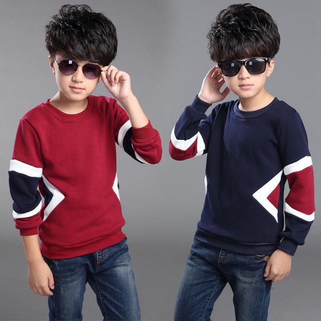 Os 2016 meninos camisa camisa de manga longa em crianças com engrossado algodão inverno cashmere casaco de cashmere não