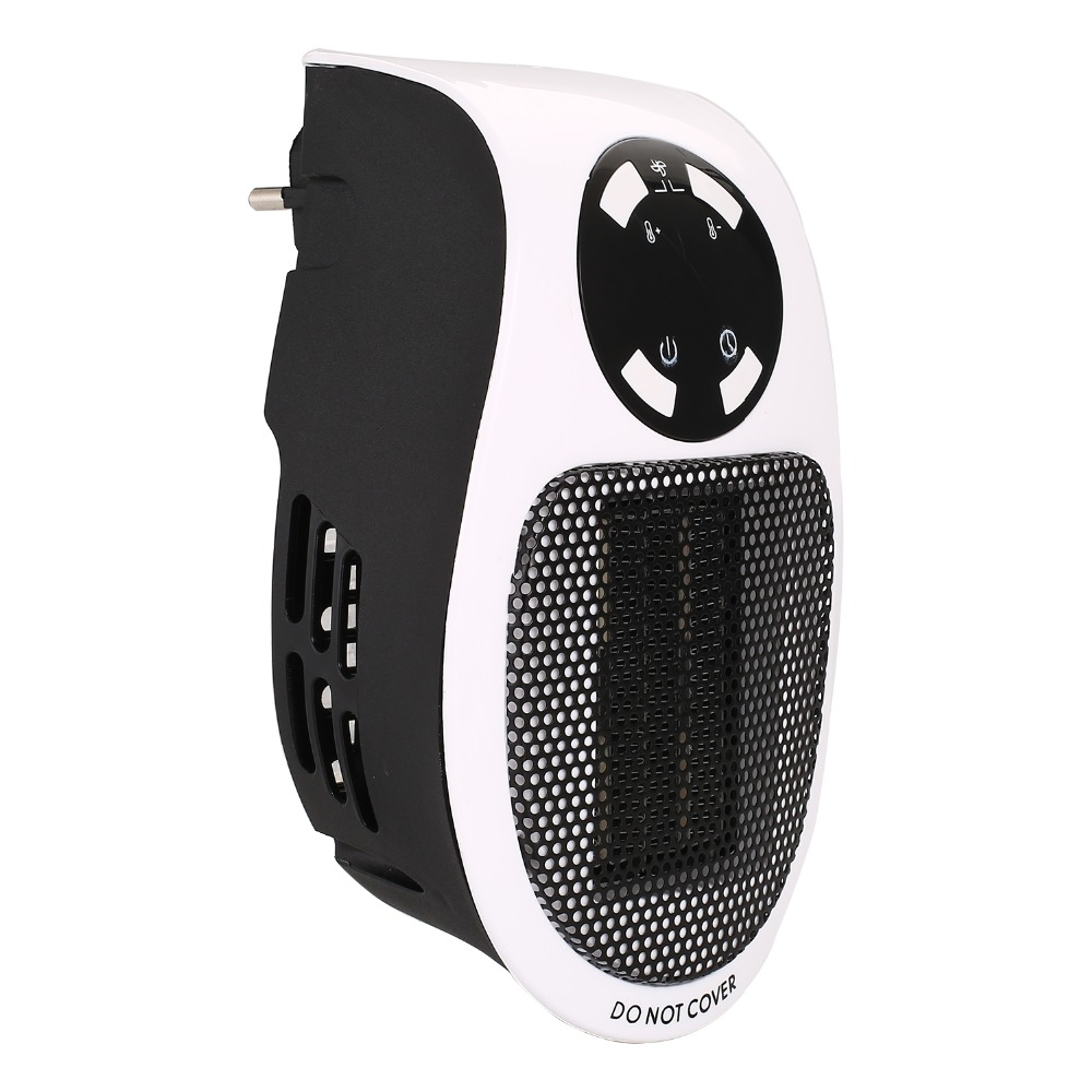 Mini Electric Table Fan Heater Fast Air Warmer Portable Small Ptc