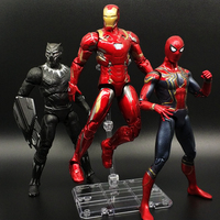 Avengers Infinity War Thanos Iron SpiderMan Iron Man Black Panther Captain America Black Widow Toy Action Figure Model
