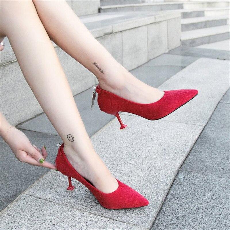 2 Hauts Automne Chaussures Confortable En 1 Mode Femmes Des Décoration Fine Daim De Talons Avec Et Populaire Printemps Femme Jeune Métal RA5vZqZ