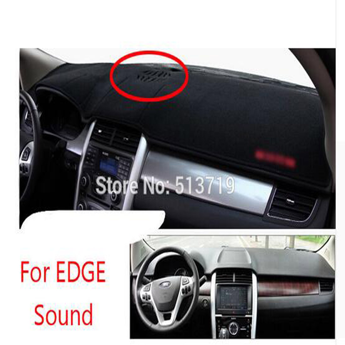 RHD Right Hand Drive Car Dashboard Avoid Light Pad Instrument Platform Cover Mat Carpets ...