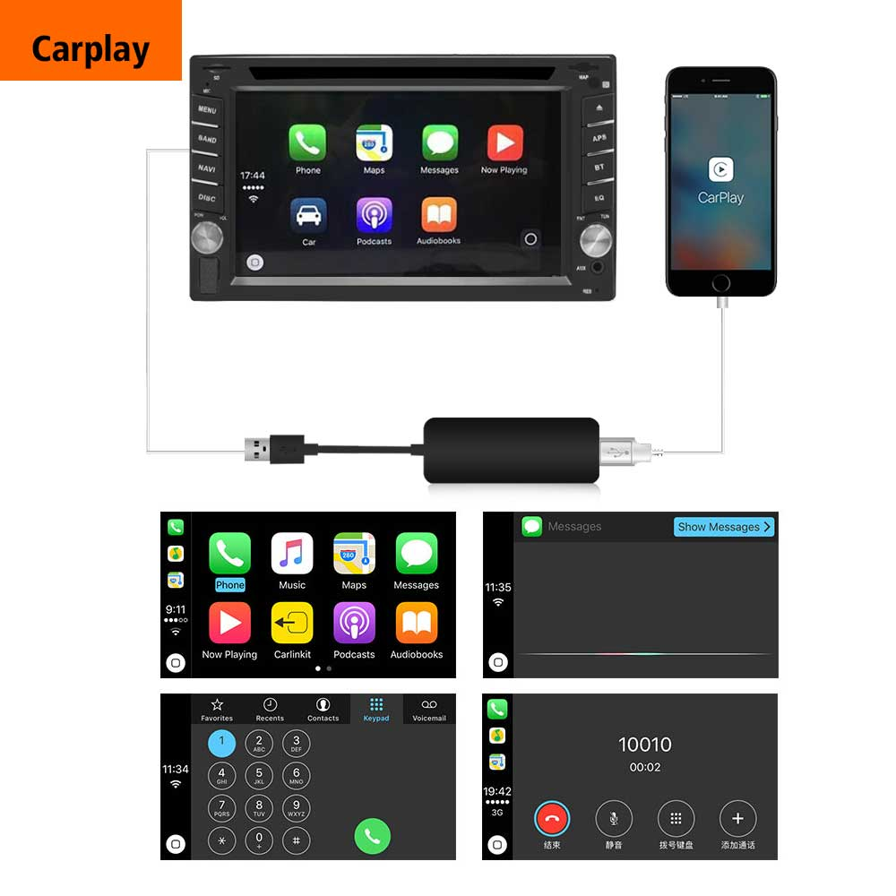 Image 3 - 2019 Wireless Car radio Apple CarPlay & Android Auto link USB DONGLE with Touch Screen Control for Android Navigation DVD System-in Car Radios from Automobiles & Motorcycles