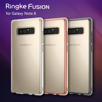 100 Original Ringke Fusion Clear PC Back Flexible TPU Edge Shock Absorption Drop Resistance Case For