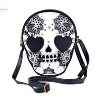 HOT 2014 New Fashion Bag Vintage Skull Coin Purse Women S Handbag Messenger Bag Bags Shoulder