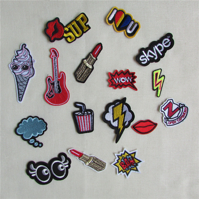 Diy Handmade Embroidered Patch: 1pcs Sell High Quality Mixture Sell Patch Hot Melt