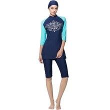 Zon Bescheiden Badmode Vrouwen Surfen Pak Moslim Hindoe Joodse Shorts Badpak Beachwear Burkinis voor Moslim Vrouwen Meisjes