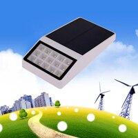 الشمسية بدعم led مصباح 15 led الشمسية ضوء سياج حديقة للماء مصباح توفير الطاقة عالية السطوع الضوء الأبيض الصمام