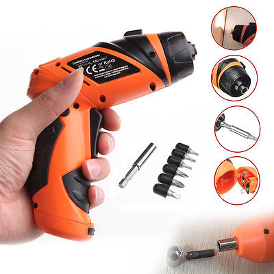 6V Portable Screwdriver Electric Drill Battery Operated Cordless Wireless +Screwscrewdriver electricelectric drill batterydrill battery -