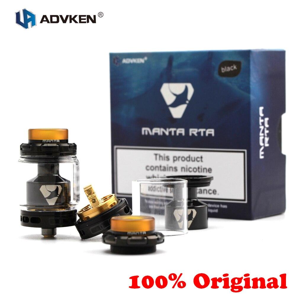 100% Original Advken MANTA RTA tanque 5/3. 5 ml capacidad 510 Rebuildable goteo atomizador Top llenado punta 810 goteo flujo de aire ajustable