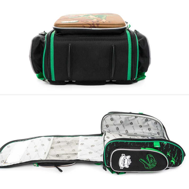 Cocolimo динозавр дизайн начальной школы сумка для мальчиков детская ортопедическая школьная сумка рюкзак для девочек Фея Mochila Escolar зеленый