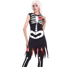 af2b3f7de0 Umorden Purim carnaval disfraces de Halloween mujeres Corpse fantasma novia  esquelética asustadiza Anime traje de novia Cosplay .