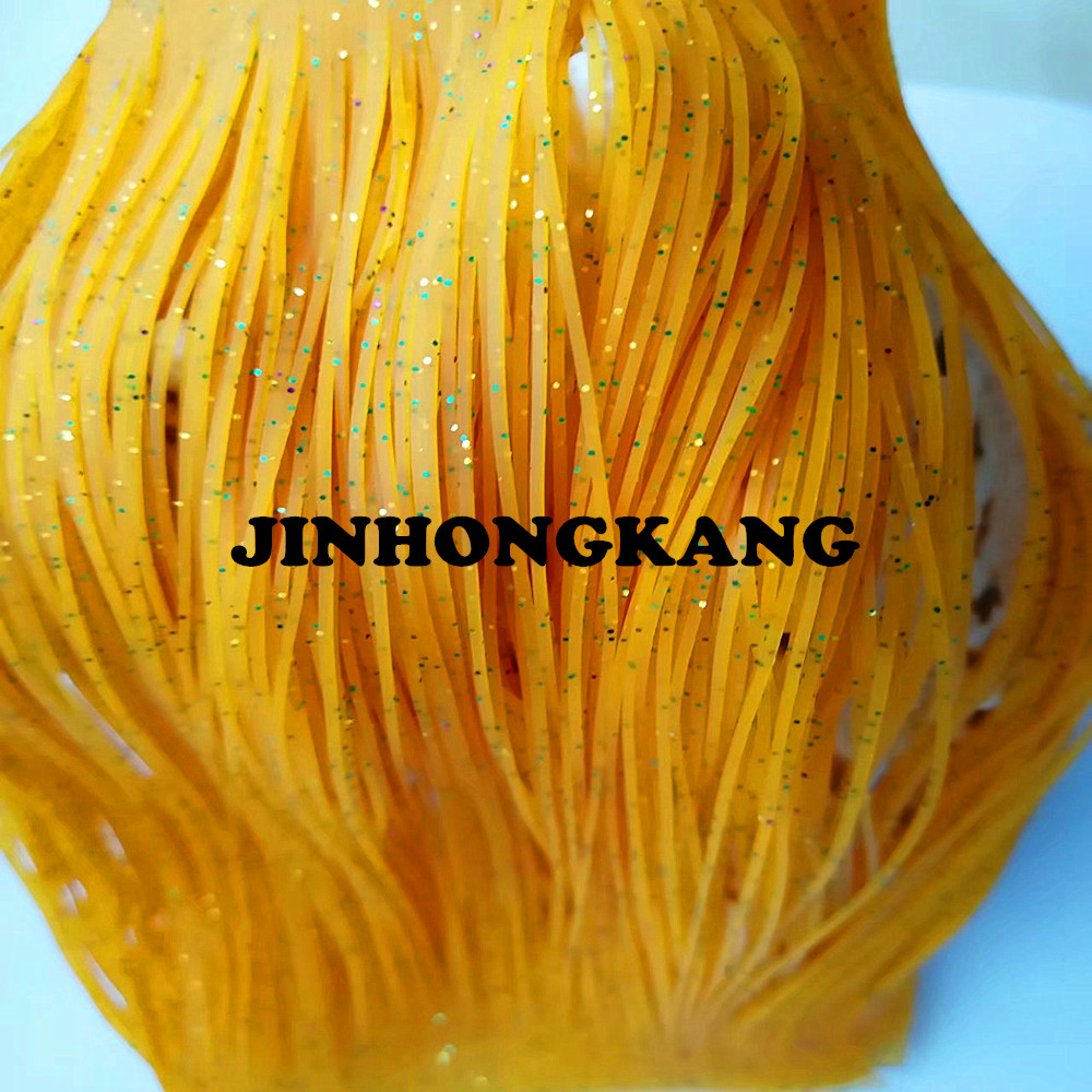 Fishing Lure Silicone Skirt Layers,Silicone Skirt Material For Tackle Craft, DIY Spinner, Rubber Jigs, Buzzbait---57