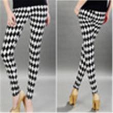 Rock Punk Vertical Stripe Zebra Leggings Skinny Pants Legwear