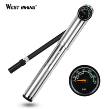 WEST BIKING Bike Pump 300 PSI  Presta/Schrader Cycling Tire Inflator Fork Bomba Bicicleta Hose MTB Road Portable Bicycle