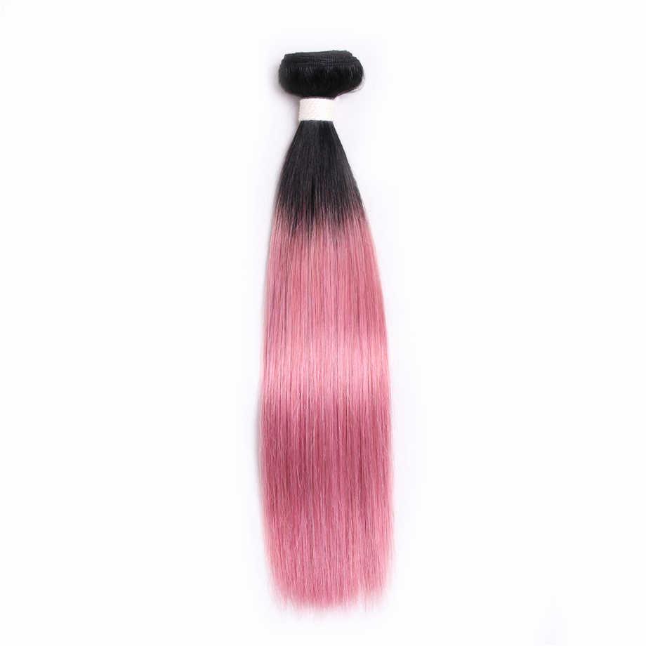 Предварительно окрашенные волосы ed Non-remy, наращивание человеческих волос, 6 цветов на выбор, Омбре, бразильские прямые волосы, один кусок, 10-18 дюймов