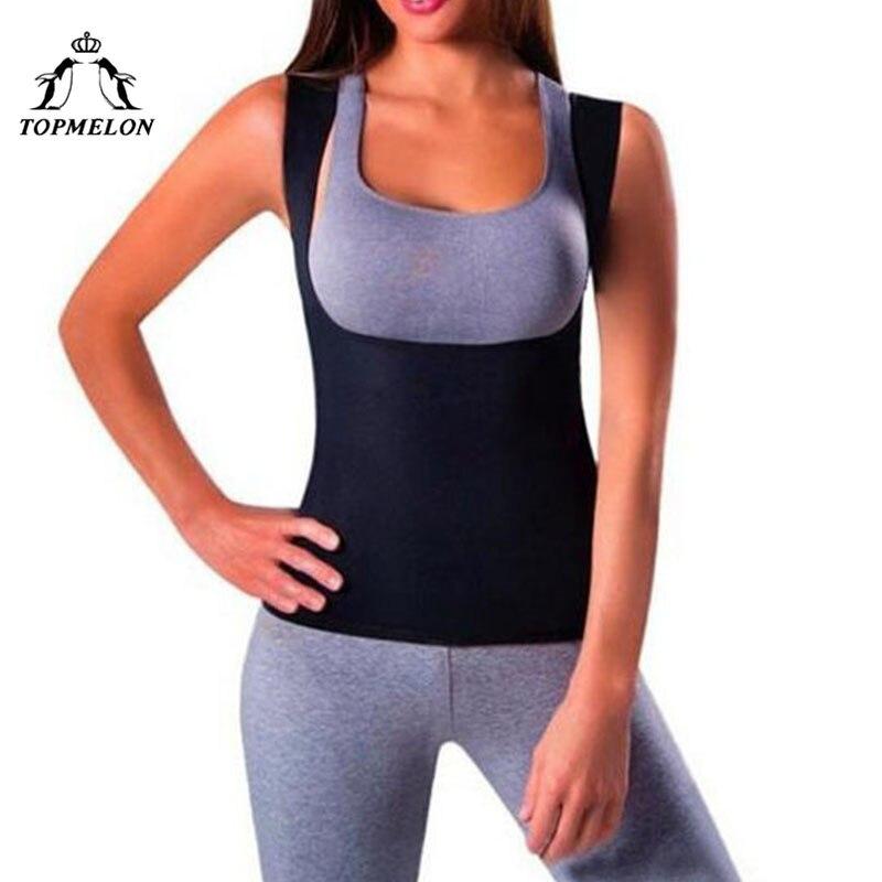 TOPMELON Waist Trainer Slim Shapewear Neoprene Modeling Strap Corset Tops Belly Slimming Sheath Sweat Body Shaper Sauna Suit