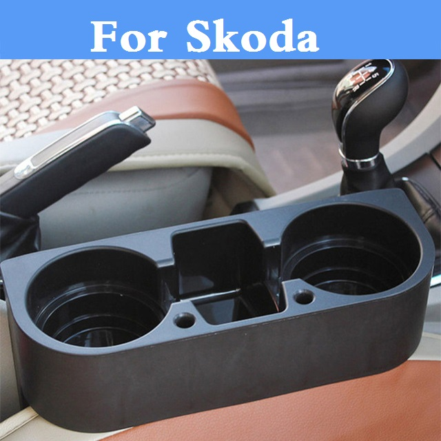 Car Seat Cup Drink <font><b>Phone</b></font> <font><b>Holder</b></font> Portable Glove Box Organizer For <font><b>Skoda</b></font> Citigo Fabia RS <font><b>Octavia</b></font> <font><b>Octavia</b></font> RS Rapid Superb Yeti