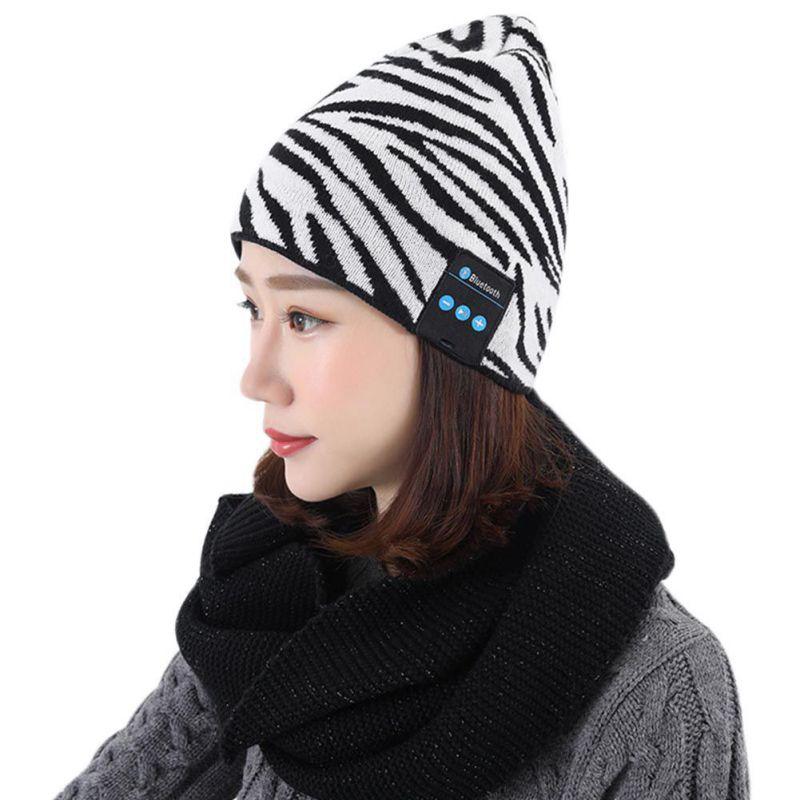 Wireless Bluetooth Music Hat Cap Stylish Headsets Portable Headphones Deep Bass Earphone Speaker with Mic For Women Wear