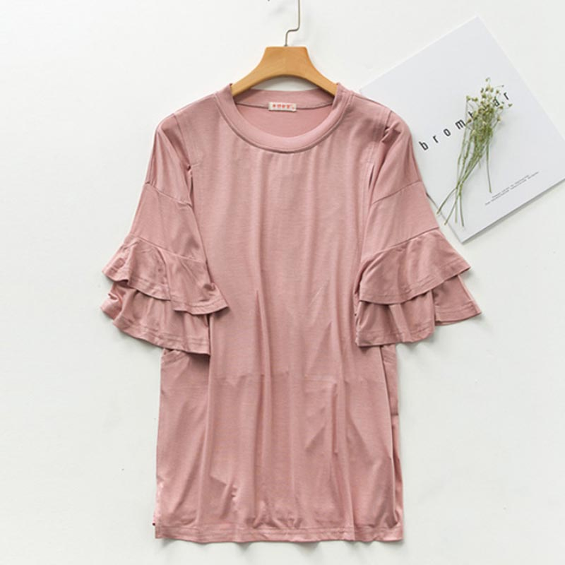 Half Women Nursing Modal Feeding Tops Tees Maternity Clothes For Pregnant Women Lateral opening Pregnancy Tees Grossesse Top