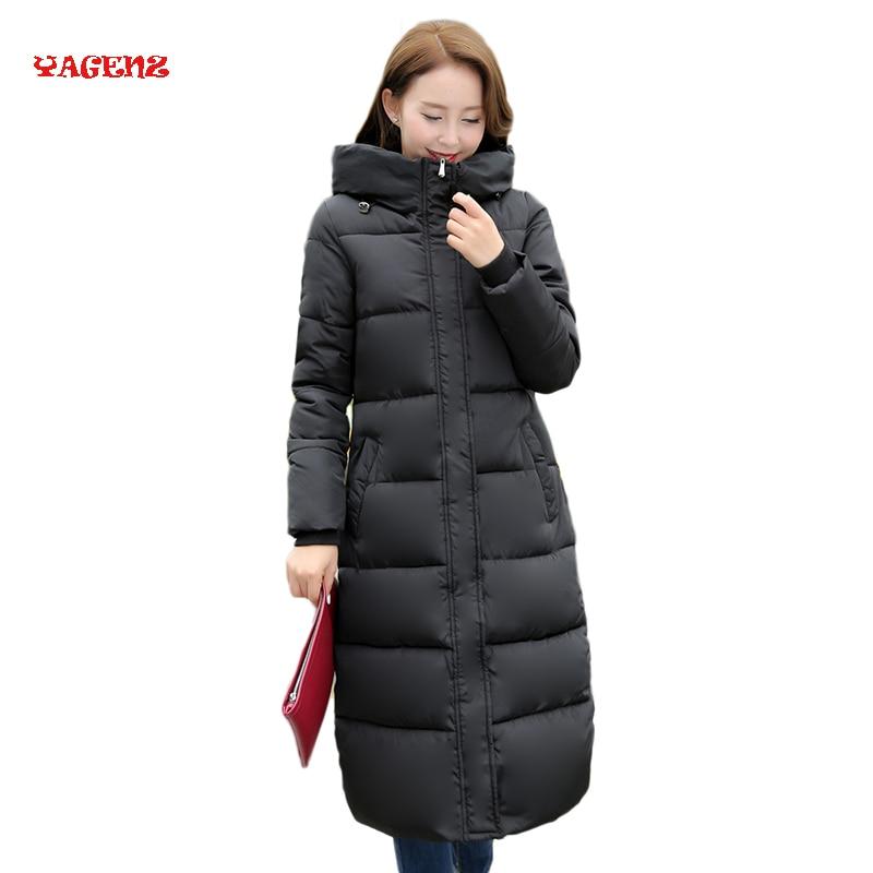 4 Types Winter Long Parkas coat Women Hooded Print Parkas Warm Cotton Wadded Coat Winter Jacket
