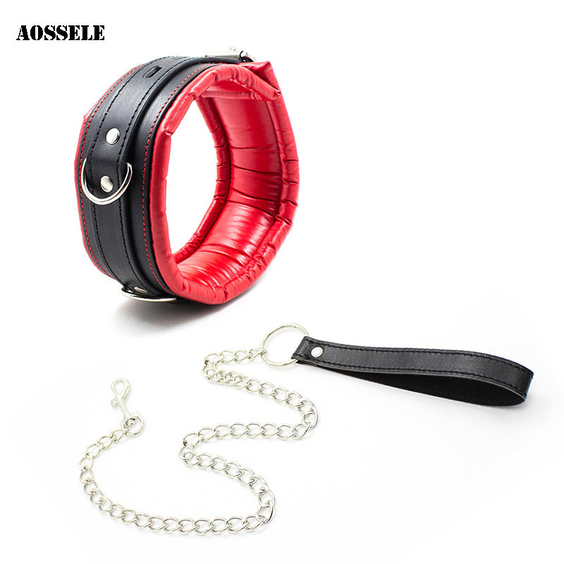 PU Leather SM Slave Collars For Couples Neck Restraints Bondage Adult Games Sex Toys For Women Men BDSM Flirting Gay Sex Product thierry adult sex games pu leather sexy leg harness body bondage arm sleeve bondage flirting tame sex slave sex toys for woman
