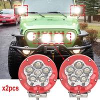 5 inch Round 60Watts led off road lights 12V 24V IP67 4550LM Led Truck Lights SUV ATV UTV 4WD Highlander led Real lights x2pcs