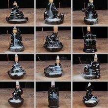 12 видов стилей башня ладан керамическая горелка ароматизатор держатель курильница с обратным потоком креативный ароматерапия дым рефлюкс ладан палочка ладан